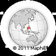 Outline Map of Palawan, rectangular outline