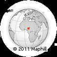 Outline Map of Billiri, rectangular outline