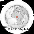 Outline Map of Mubi, rectangular outline