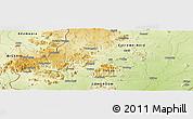 Physical Panoramic Map of Mubi