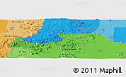 Political Panoramic Map of Mubi