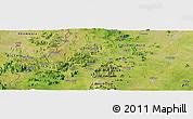 Satellite Panoramic Map of Mubi