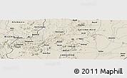 Shaded Relief Panoramic Map of Mubi