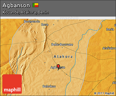 Political 3D Map of Agbanson