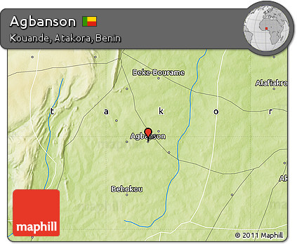 Physical Map of Agbanson