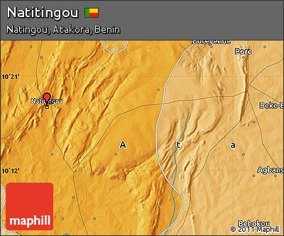 Political Map of Natitingou