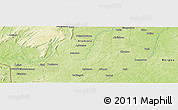 "Physical Panoramic Map of the area around 10° 7' 21"" N, 1° 46' 29"" E"