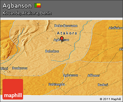 Political Panoramic Map of Agbanson