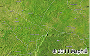 """Satellite Map of the area around 10°7'21""""N,1°37'30""""W"""