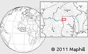 Blank Location Map of Wa