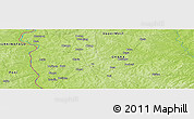 Physical Panoramic Map of Wa