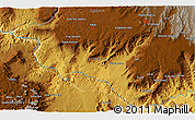 Physical 3D Map of Debre Mark'os