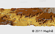 Physical Panoramic Map of Debre Mark'os