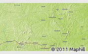 """Physical 3D Map of the area around 10°7'21""""N,3°19'30""""W"""
