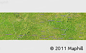 Satellite Panoramic Map of Gaoua