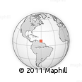 """Outline Map of the Area around 10° 7' 21"""" N, 60° 16' 29"""" W, rectangular outline"""