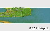 Satellite Panoramic Map of Hindustan