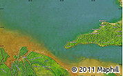 """Satellite Map of the area around 10°7'21""""N,61°58'30""""W"""