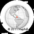 Outline Map of Barquisimeto, rectangular outline