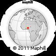 Outline Map of Igede, rectangular outline
