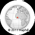 Outline Map of Dougba, rectangular outline