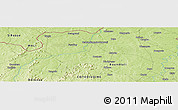 """Physical Panoramic Map of the area around 10°7'21""""N,6°43'29""""W"""