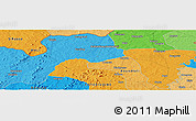 """Political Panoramic Map of the area around 10°7'21""""N,6°43'29""""W"""