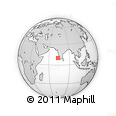 Outline Map of Lakshadweep, rectangular outline