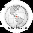 Outline Map of Magdalena, rectangular outline
