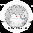 Outline Map of Western Ghats, rectangular outline