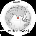 Outline Map of Devakottai, rectangular outline
