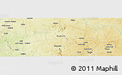 "Physical Panoramic Map of the area around 10° 7' 21"" N, 7° 43' 29"" E"
