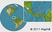 """Satellite Location Map of the area around 10°7'21""""N,80°40'30""""W"""