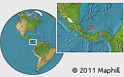 """Satellite Location Map of the area around 10°7'21""""N,81°31'30""""W"""