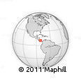 """Outline Map of the Area around 10° 7' 21"""" N, 81° 31' 30"""" W, rectangular outline"""
