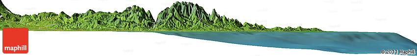 Satellite Horizon Map of Siquirres