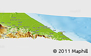 Physical Panoramic Map of Puerto Limón