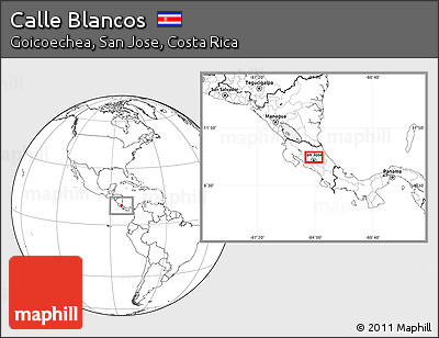Blank Location Map of Calle Blancos