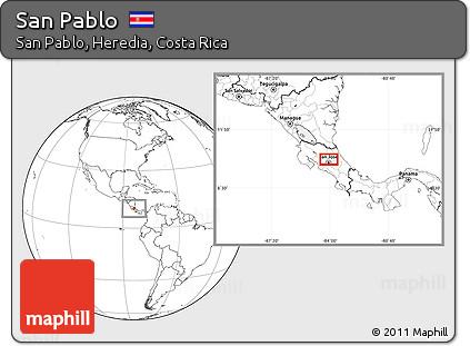 Blank Location Map of San Pablo