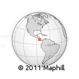 Outline Map of Turrujal, rectangular outline