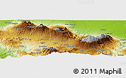 Physical Panoramic Map of Quebrada Honda
