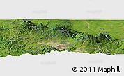 Satellite Panoramic Map of San Rafael Arriba