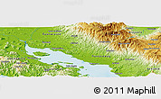 """Physical Panoramic Map of the area around 10°7'21""""N,84°55'30""""W"""