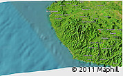 """Satellite 3D Map of the area around 10°7'21""""N,85°46'30""""W"""