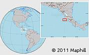 Gray Location Map of Nicoya