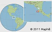Savanna Style Location Map of Nicoya