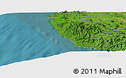"Satellite Panoramic Map of the area around 10°7'21""N,85°46'30""W"