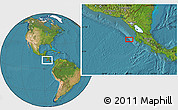 """Satellite Location Map of the area around 10°7'21""""N,86°37'30""""W"""
