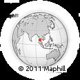Outline Map of Ranong, rectangular outline