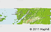 Physical Panoramic Map of Ranong